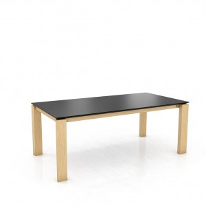 Mason straight leg PB1 Fenix + oak dining table