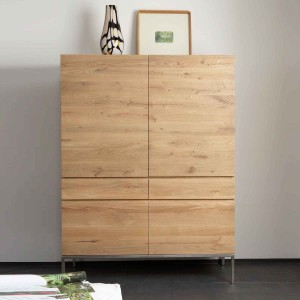 Ethnicraft Oak Ligna storage cupboard - 4 doors - 2 drawers