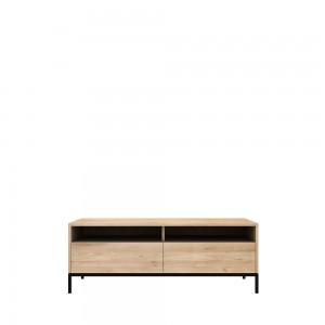 Ethnicraft Oak Ligna TV cupboards black