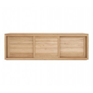 Ethnicraft flat oak 6 drawer chest of drawers solid wood for Sideboard 250 cm