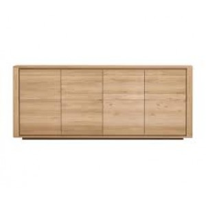 Ethnicraft Oak Shadow sideboard 203cm - 4 doors