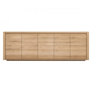 Ethnicraft Oak Shadow sideboard 250cm - 5 doors