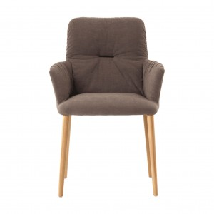 Ora chair with armrest - wood legs