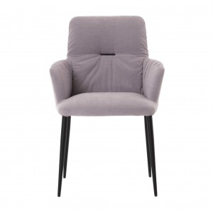 Ora chair with armrest - metal legs