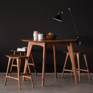 Ethnicraft Walnut Osso stool high
