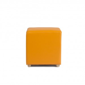 Square pouf - wooden legs