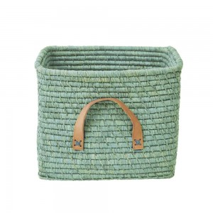 rice-raffia-storage-basket-mint
