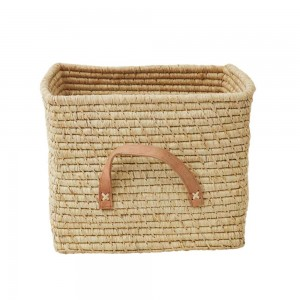 Raffia storage basket, Natural