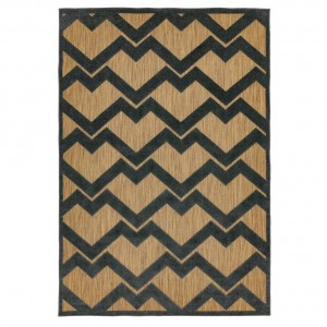 Rio outdoor rug zig zag grey
