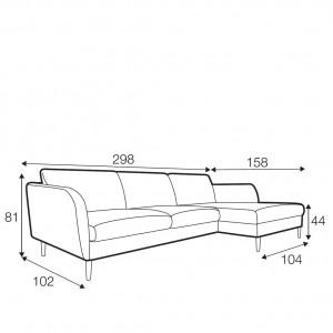 Reya corner sofa - set 2