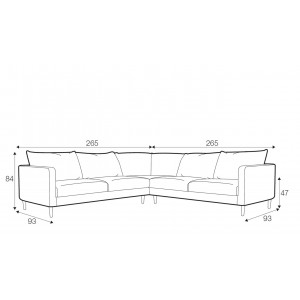 Sanford corner sofa - set 3