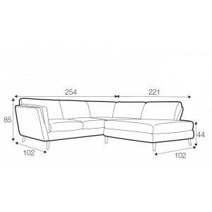 Bryce corner sofa - set 3