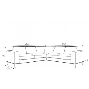Sunday corner sofa - set 3