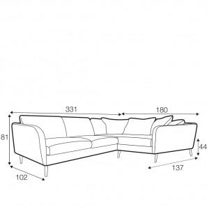 Reya corner sofa - set 5