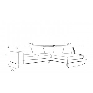 Sunday corner sofa - set 7
