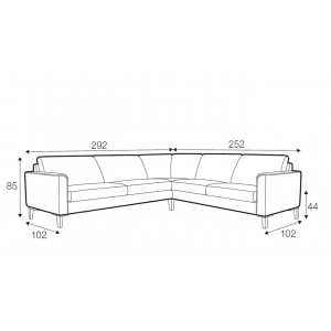 Hacienda corner sofa - set 8