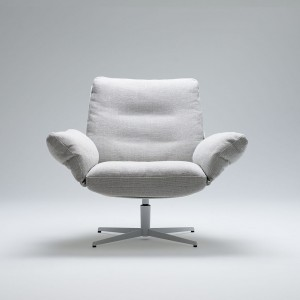 Soft bird armchair with swivel