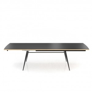 Tate Oak + Fenix extending dining table