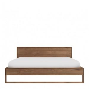Ethnicraft Teak Nordic II bed | European 160cm | Mattress size 160 x 200cm