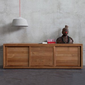 Ethnicraft Teak Pure sliding door sideboards