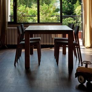 Ethnicraft Slice teak dining table 140