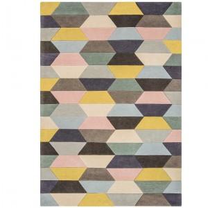 Tetra rug - Honeycombe pastel