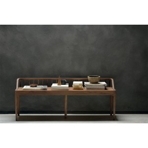 Ethnicraft Walnut Spindle bench