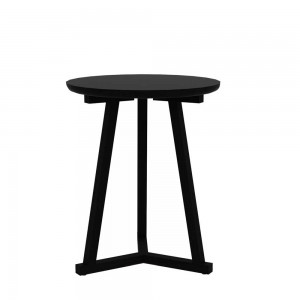 Oak Tripod side table black - 46cm