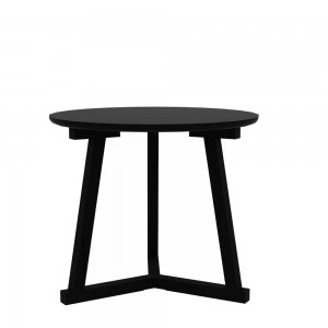 Oak Tripod side table black - 70cm