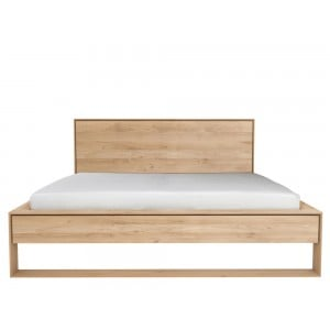 Ethnicraft Oak Nordic II bed | Extra Long 180cm | Mattress size 180 x 220cm