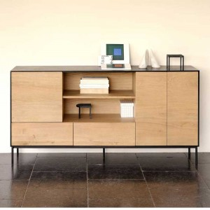 Oak Blackbird sideboard - 3 doors / 2 drawers