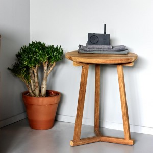 Ethnicraft Teak Tripod side tables