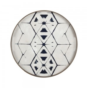 Notre Monde Tribal Hexagon - Glass Tray - Round/Small - 48cm