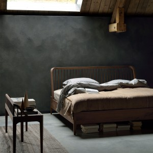 Ethnicraft Walnut Spindle beds