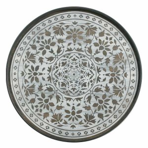 Notre Monde White Marrakech - Driftwood Round Tray - Medium 61cm
