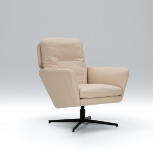 Zed leather armchair