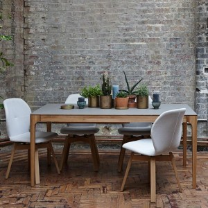 Zurich Fenix + oak dining table