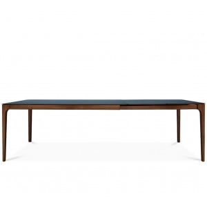 Zurich Fenix + walnut extending dining table