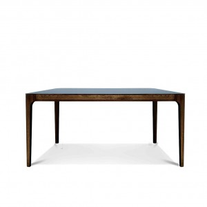 Zurich Fenix + walnut dining table