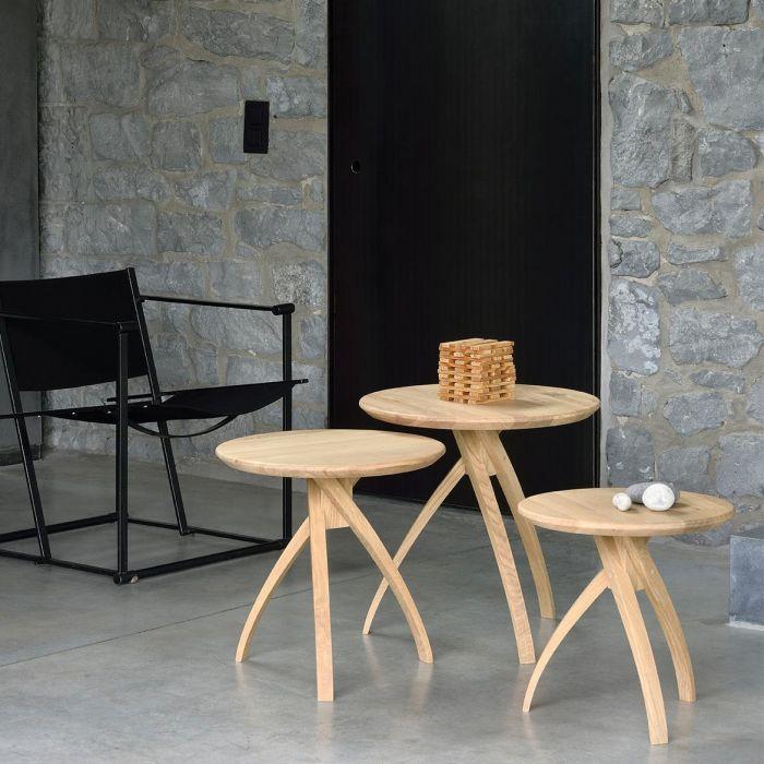 Ethnicraft Oak Twist Side Table