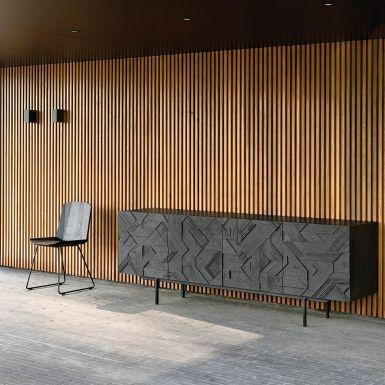 Ethnicraft Teak Graphic Sideboard - 4 Door