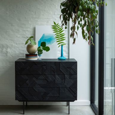 Ethnicraft Teak Graphic Chest of Drawers