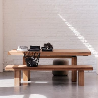 Ethnicraft Double teak extendable dining table