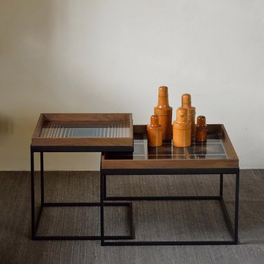 Ethnicraft Square Coffee table Tray Table Set