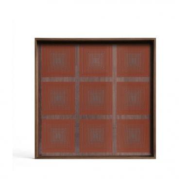 Pumpkin Squares glass Tray - Small