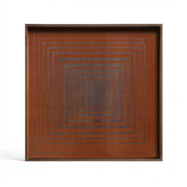Pumpkin Square glass Tray - Large