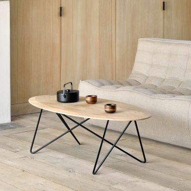 Ethnicraft Oak Orb coffee table