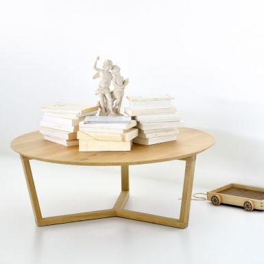 Ethnicraft Oak Tripod coffee table
