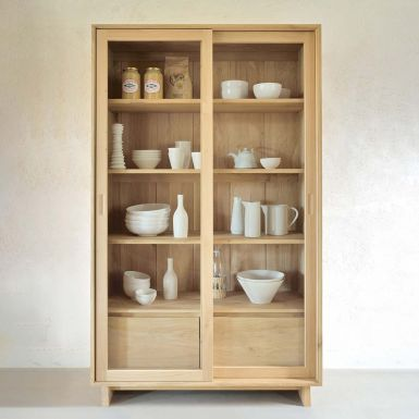 Ethnicraft Oak Wave storage cupboard