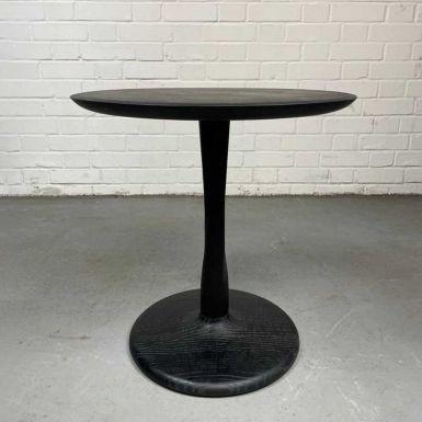 Ex-display Oak Black Torsion side table 50cm (236049)